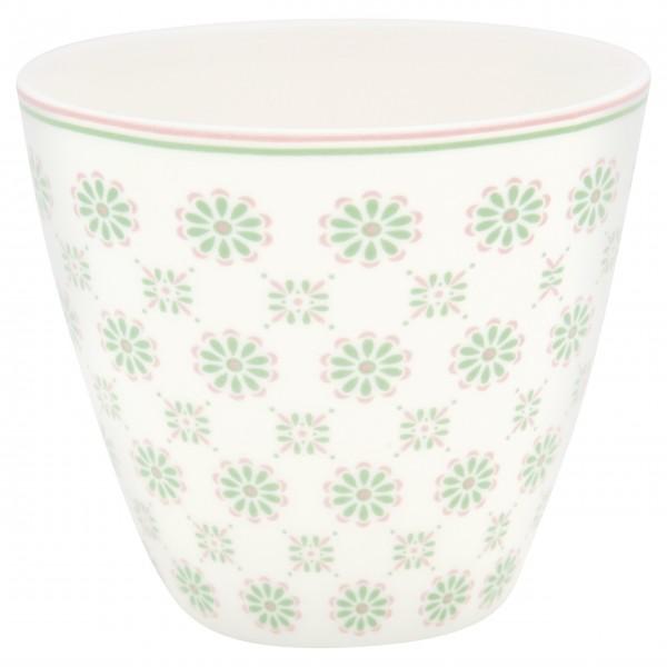 "GreenGate Latte Cup ""Mila"" (White/Green)"