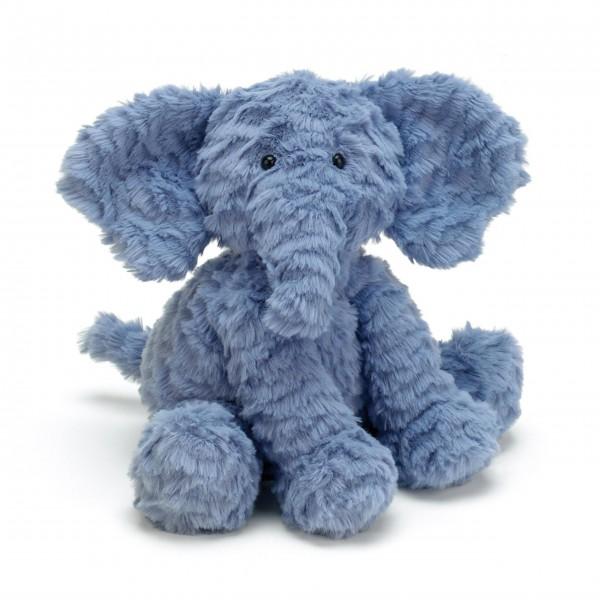 """Jellycat Kuscheltier """"Fuddlewuddle - Elefant"""" - Medium (Blau)"""