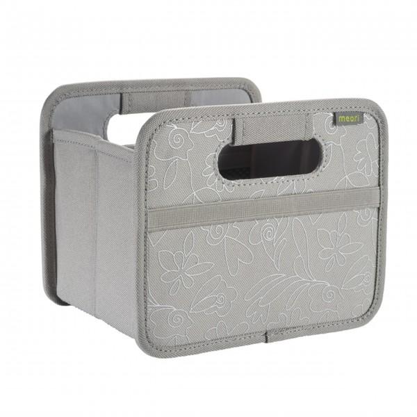 "meori Faltbox ""Stone Grey / Floral silver metallic print"" - Mini"