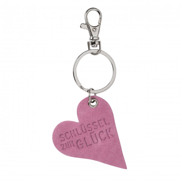 """Schlüsselanhänger """"Herz"""" (Schlüssel zum Glück) rosa von räder Design"""