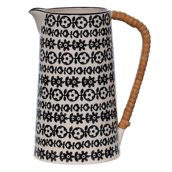 Bloomingville Keramikkanne mit Holzgriff