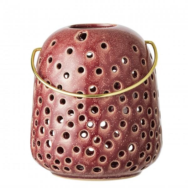 Bloomingville Joëlle Lantern, Red, Stoneware