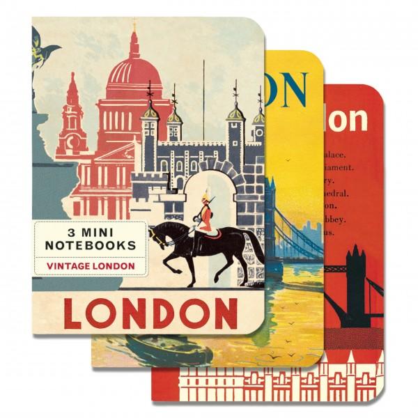 "Cavallini Mini-Notizbücher im Set ""Vintage London"""