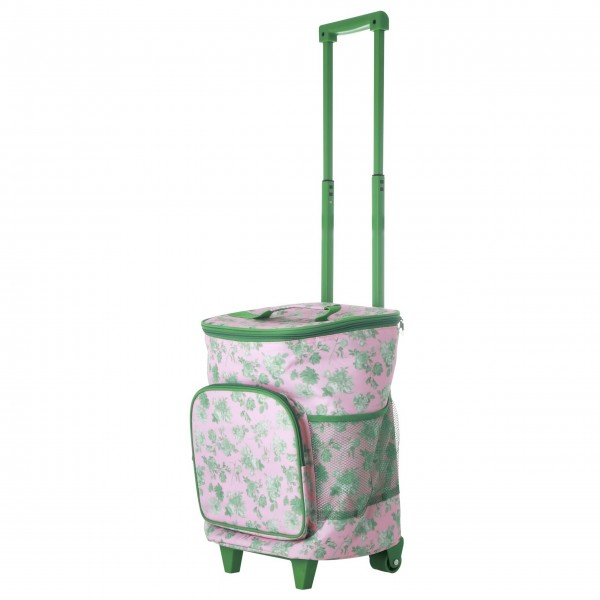 "Rice Trolley ""Green Rose"" - 22 L. (Pink/Grün)"
