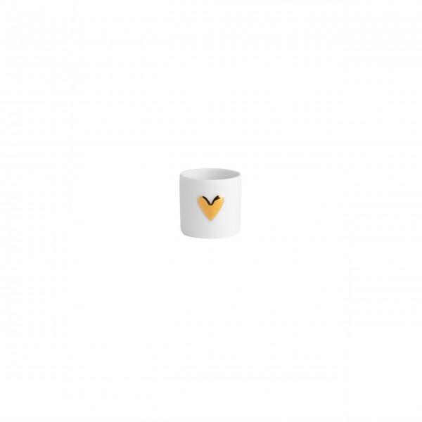 """Teelicht im 2er Set """"Wolke Sieben - Herz"""" (Gold) von räder Design"""