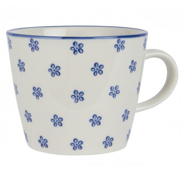 """Ib Laursen Keramiktasse """"Casablanca Bloom"""" (Blau)"""
