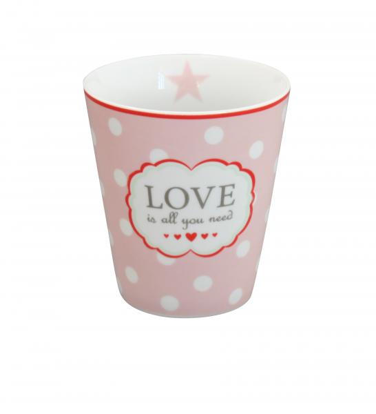 "Krasilnikoff Happy Mug ""Love is all you need"""