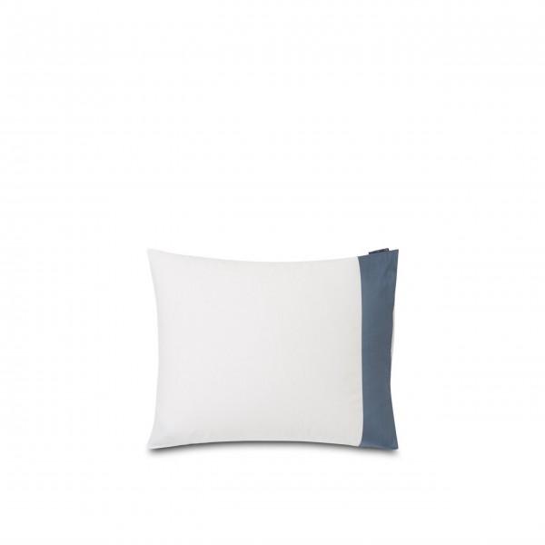 """Lexington Bettwäsche Kissenbezug - Baumwoll-Satin """"Streifen"""" - 80x80 cm (Blau/Weiß)"""