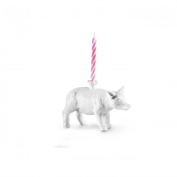 """DONKEY Kerzenständer """"Happy Zoo-Day - Schwein"""""""