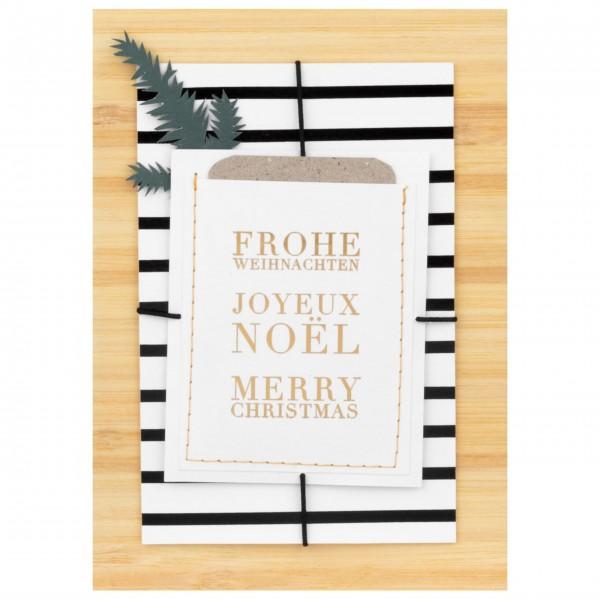 """Weihnachtskarte """"Joyeux Noel"""" von räder Design"""