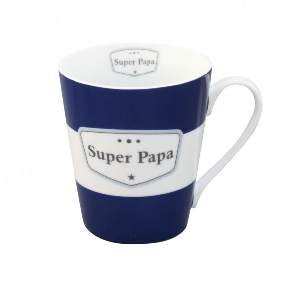 "Krasilnikoff - Happy Mug mit Griff ""Super Papa"""