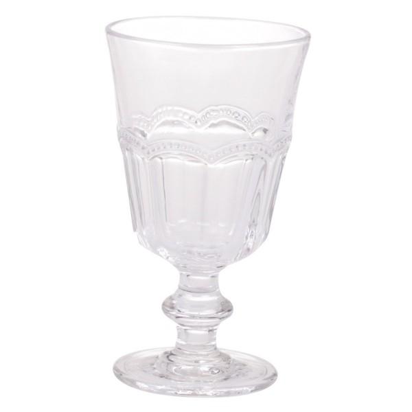 Französisches Weinglas mit Perlenkante
