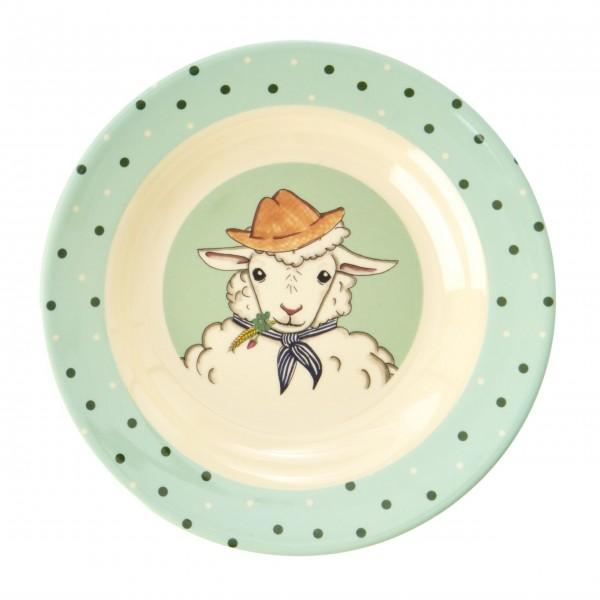 """Rice Melamin Schüssel """"Farm Animals - Schaf""""-1"""