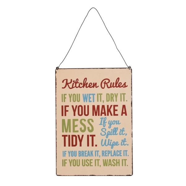 """Metallschild """"Kitchen Rules"""" von Rex LONDON"""