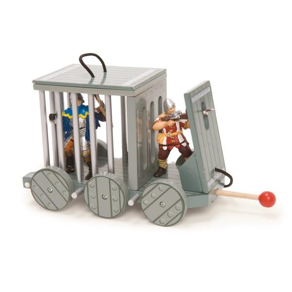 Gefangenenkäfig aus Holz - für echte Ritter und Burgherren