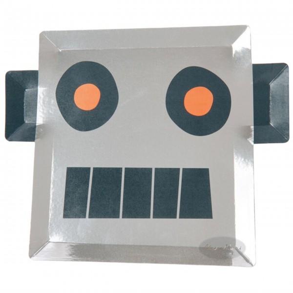 """Pappteller """"Roboter"""" von Meri Meri"""