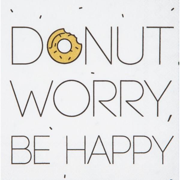 """Cocktailservietten """"Donut worry"""" - 25x25cm von räder Design"""