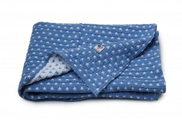 "Lexington Baby Decke ""Star"" (blau)"