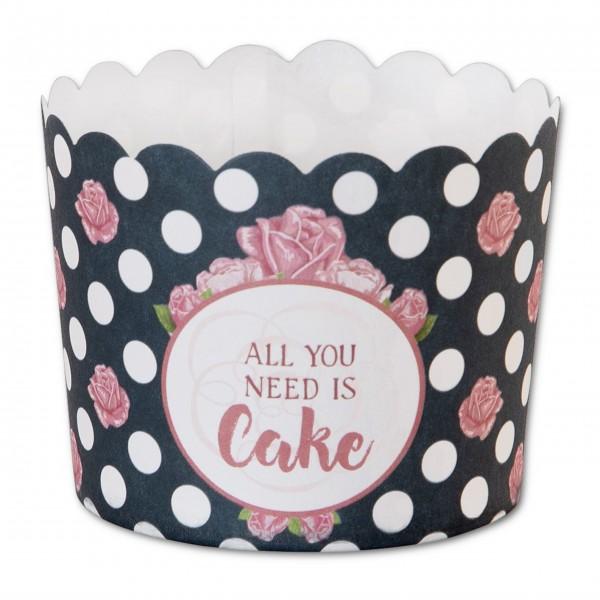 """Papierbackförmchen """"All You Need Is Cake"""" von Städter"""