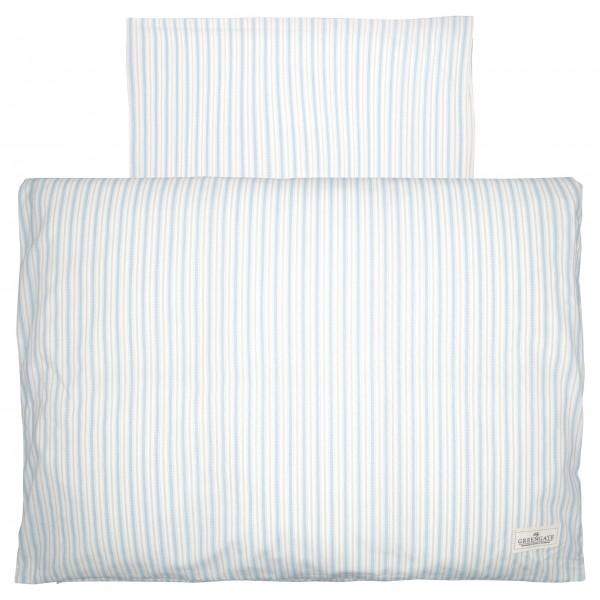 "GreenGate Baby-Bettbezug ""Sari"" (Pale blue) - 70x100cm"