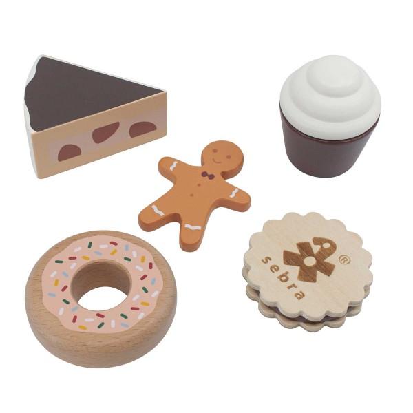 "Holzspielzeug ""Lebensmittel - Kuchen und Kekse"" von sebra"