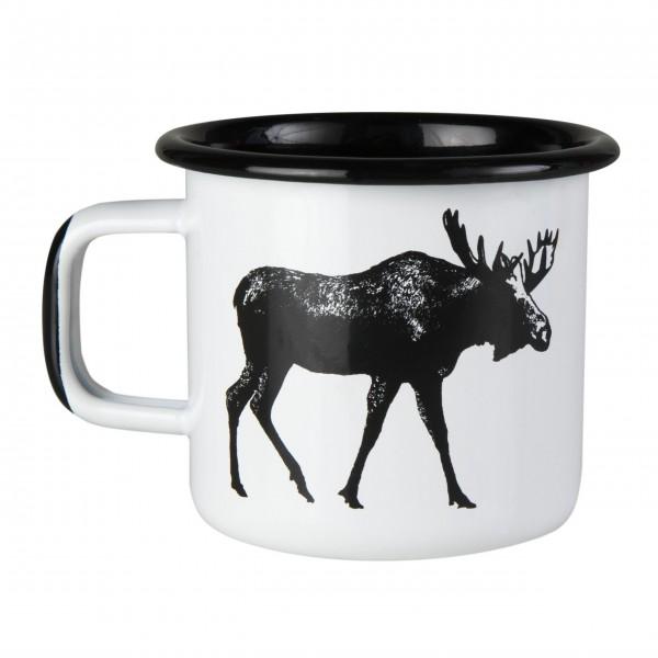 """Muurla Kleiner Emaille Becher """"Nordic-Moose"""""""