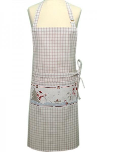 "Country Home Style Schürze ""Manni"" (beige) 70x85cm"