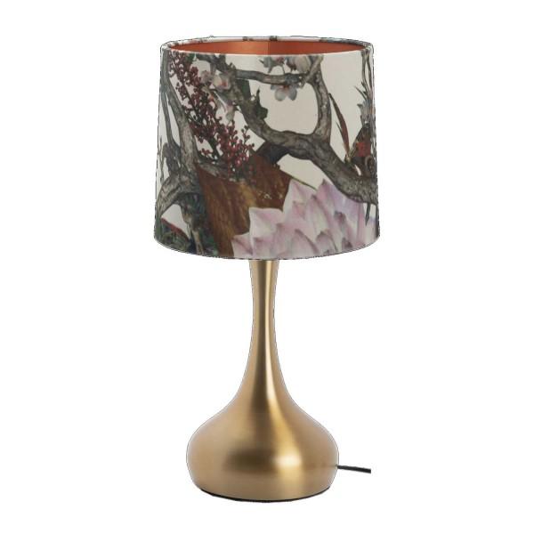 """AU Maison Lampe """"Christine"""" mit Leuchtenschirm (Gold)"""