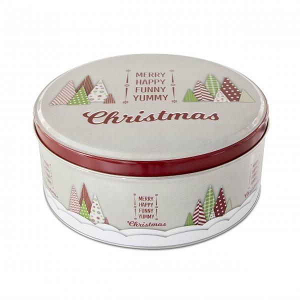 """Runde Gebäckdose """"Yummy Christmas"""" -Klein (Bunt) von Städter"""