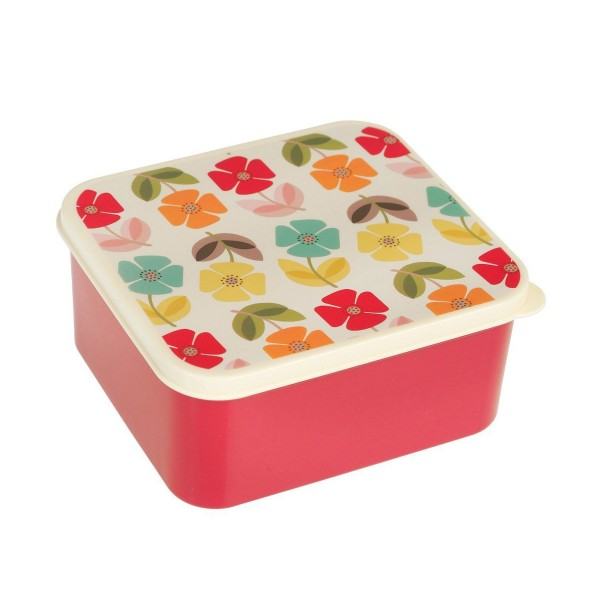 """Superhübsche Lunchbox """"Retro Flower"""" im blumigen Look"""