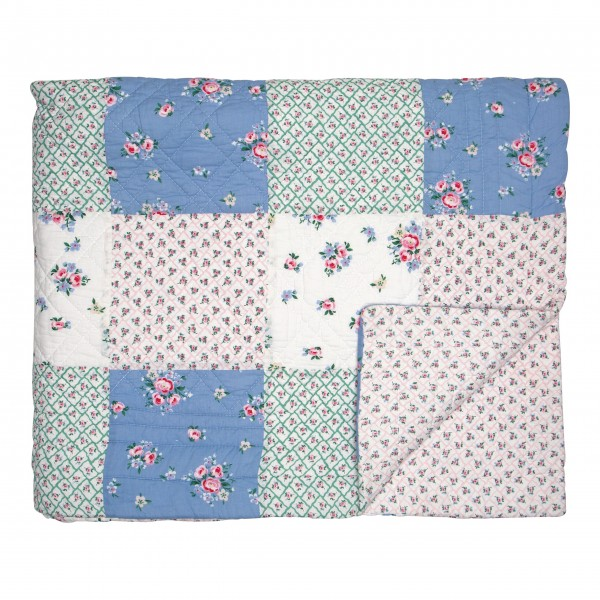"""GreenGate Quilt """"Nicoline - Patch"""" (White)"""