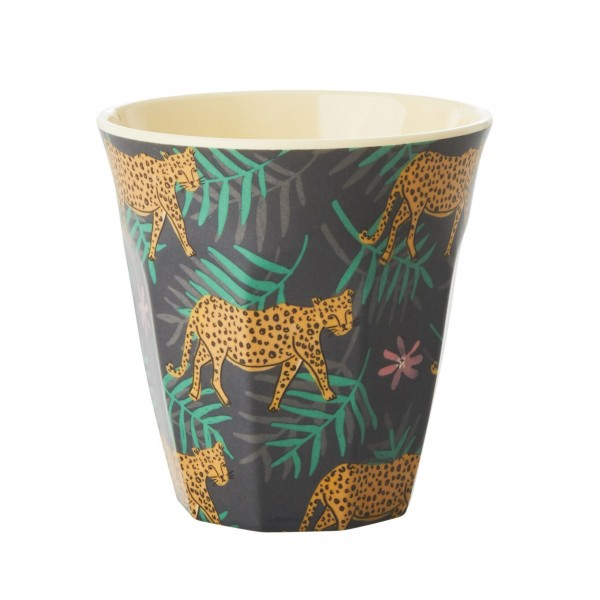 """rice Melamin Becher """"Leopard and Leaves"""""""