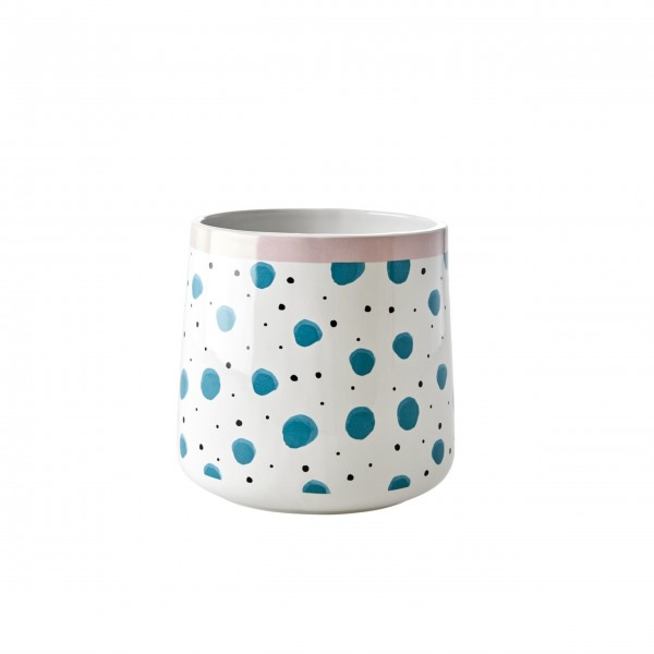 """Rice Keramik Krug """"Watercolor Splash"""" (Blau)-1"""