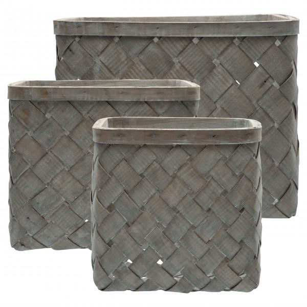 GreenGate Korb 3erSet (Dusty grey) - verschiedene Größen