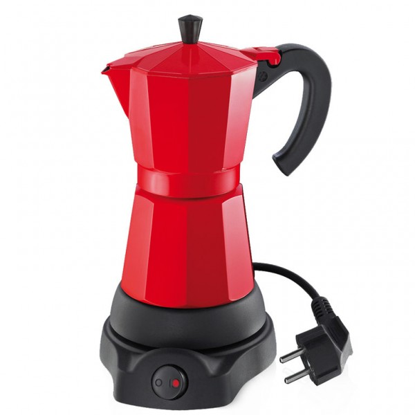 """Cilio Espressokocher """"Classico"""" (Rot) 6 Tassen, elektrisch"""