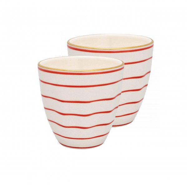 "GreenGate Porzellanbecher ""Sally"" - 2er-Set (Red)"