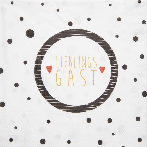 """Serviette """"DINING - Lieblingsgast"""" - 33x33cm von räder Design"""