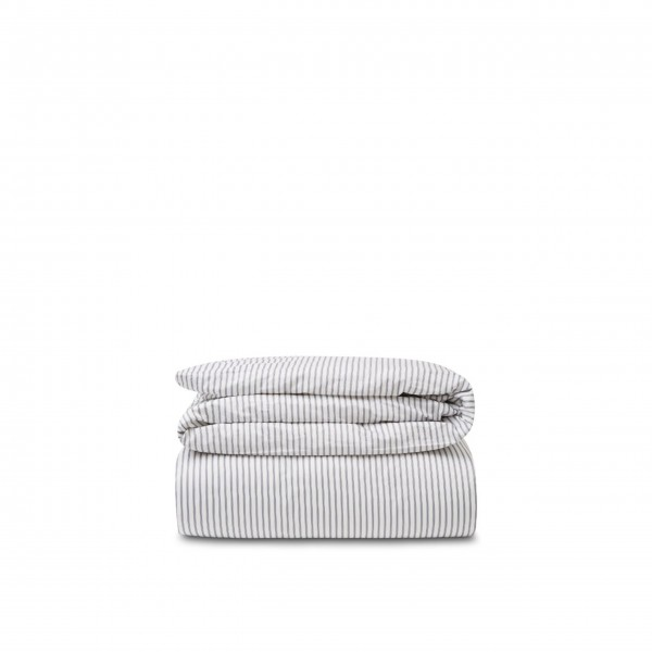 Bettwäsche Bettdeckenbezug aus Baumwolle/Tencel - 135x200 cm (Blau/Weiß - Gestreift) von Lexington