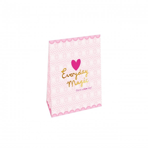 rice Small Gift Bag - Lace Print