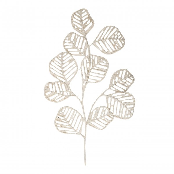 """Bloomingville Wand-Dekor """"Blätterzweig"""" (Weiß)"""