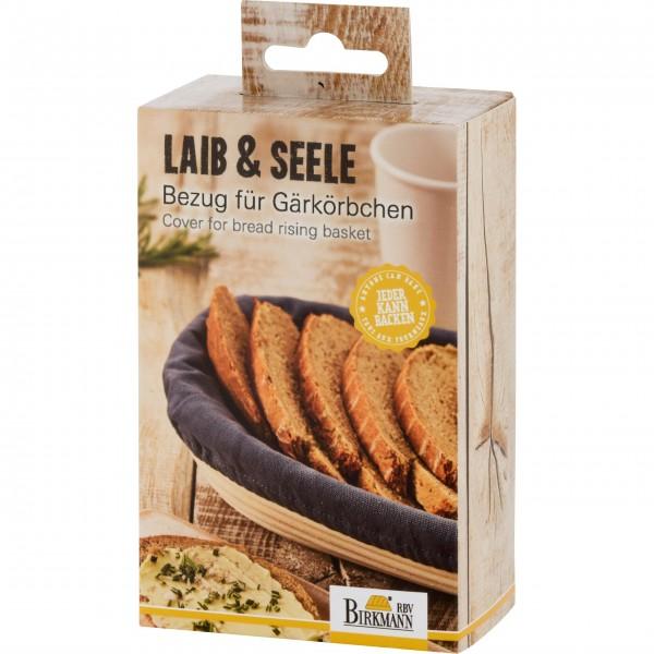 """Birkmann Länglicher Bezug für Gärkörbchen """"Laib & Seele"""" - Groß"""