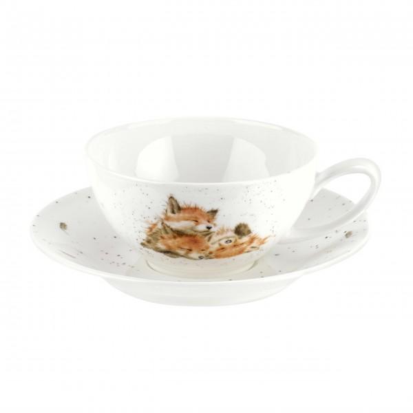 """Tee-Tasse mit Unterteller """"Füchse"""" von Wrendale"""