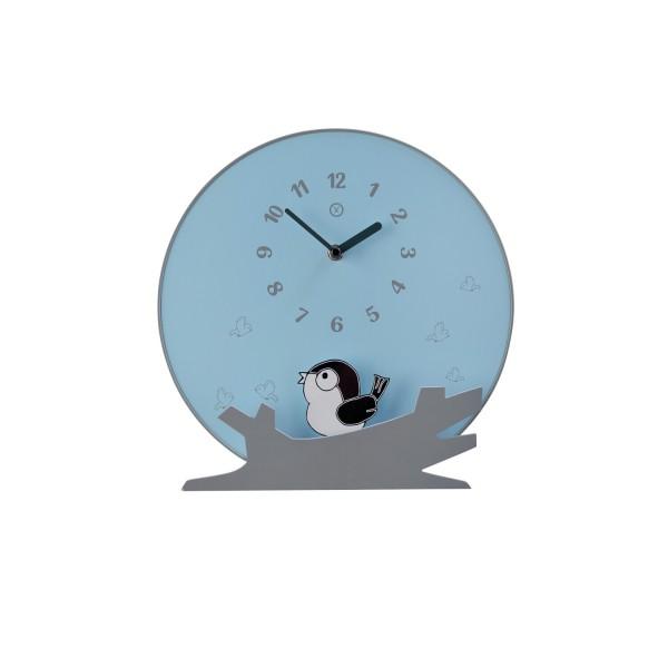 """Pendeluhr """"SEATTLE"""" (Hellblau) - Durchmesser 30cm von SOMPEX"""