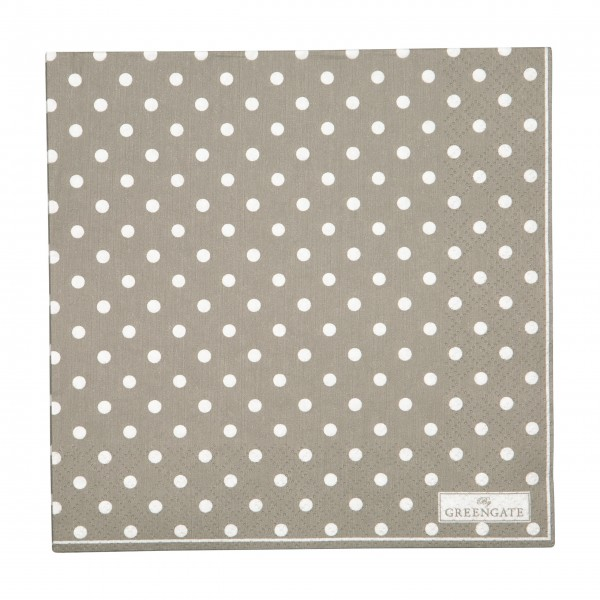 """GreenGate Papierservietten """"Spot"""" (Grau)"""