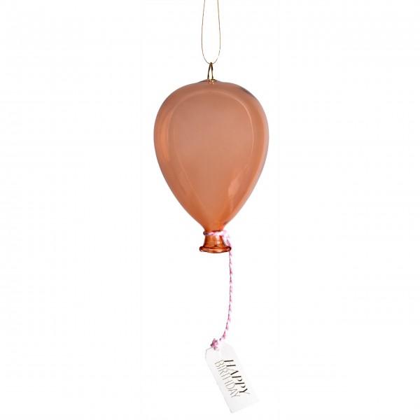 """Geschenk - Anhänger aus Glas """"Happy Birthday"""" - Luftballon (Apricot) von räder Design"""