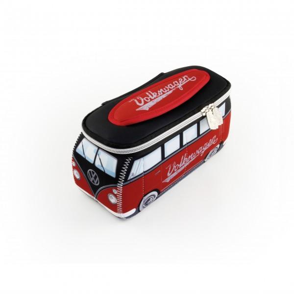 Rotes VW-Bulli Neoprenmäppchen von Vento