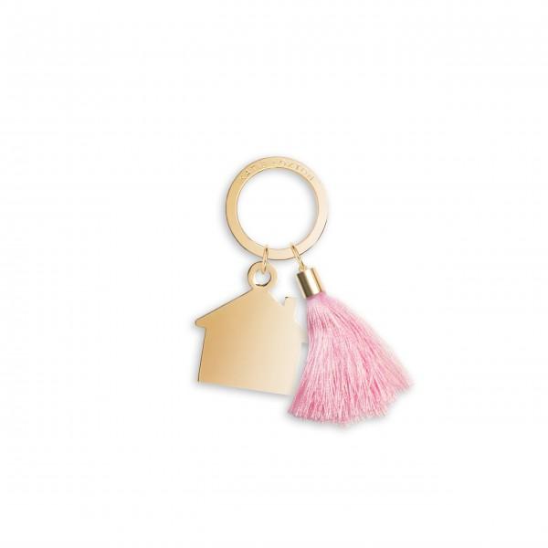 """Schlüsselanhänger """"Zuhause"""" (Rosa) von KATIE LOXTON"""