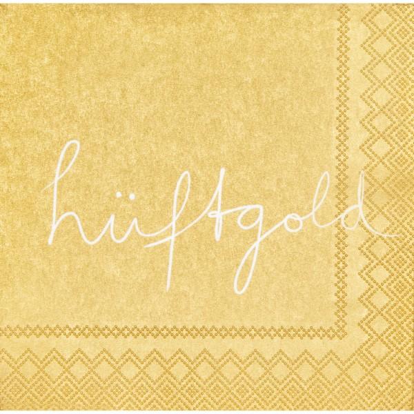 """Cocktailservietten """"Hüftgold"""" (Gold) - 25x25cm von räder Design"""