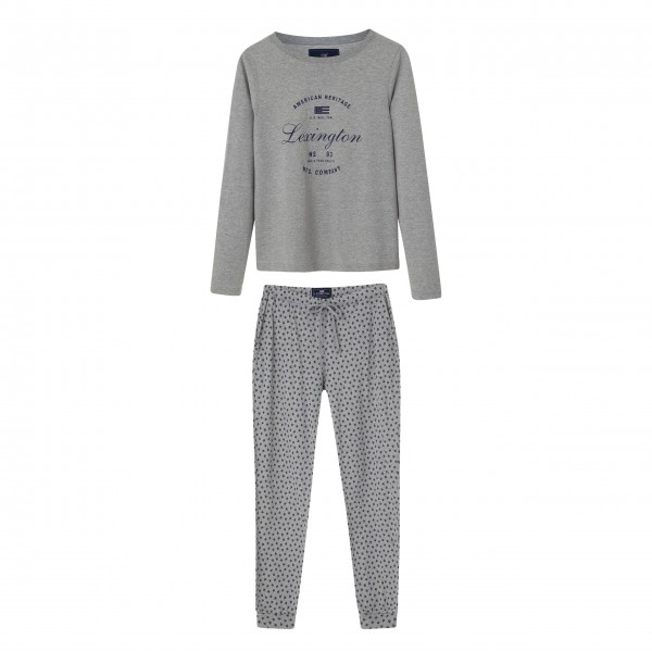 "Lexington Pyjama ""Vicki"" - L (grau)"
