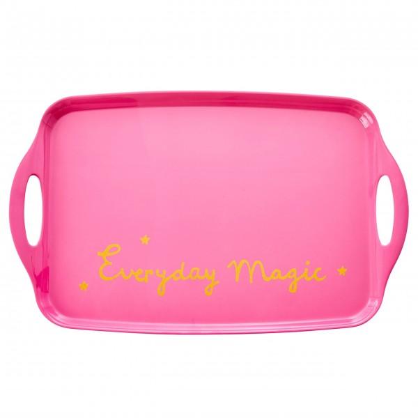 "Rice Melamin Tablett ""Everyday Magic"" (Pink)"